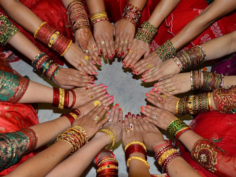 Ladies in Red-  Teej 2013 Celebration: