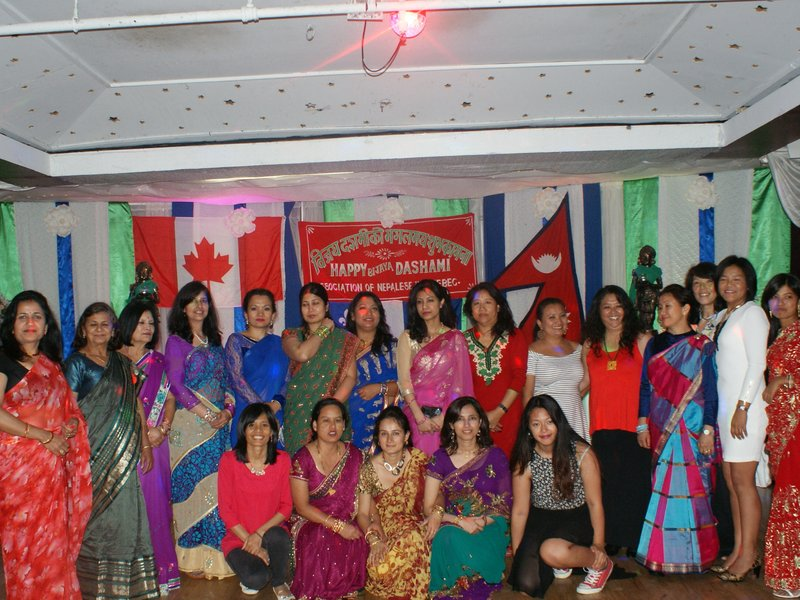Dashain 2014 Group photo Ladies